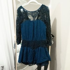 Free People Dresses - Free People Navy Caged Heart Dress